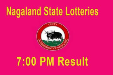 Nagaland State Lottery 7 pm Result Today Live