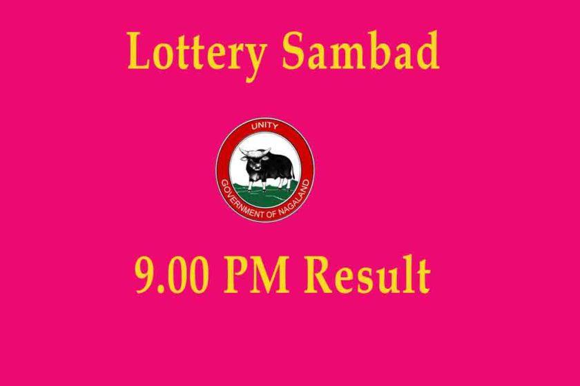 Nagaland Dear Laxmi 9 PM Result