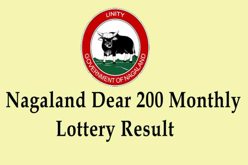 Nagaland Dear 200 monthly Lottery Result