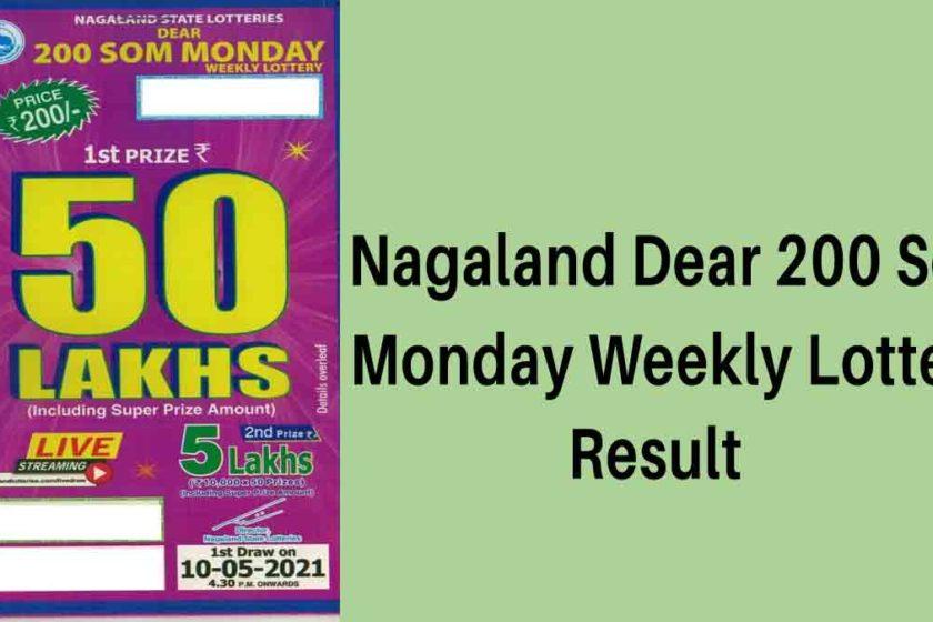 Nagaland Dear 200 Lottery Result