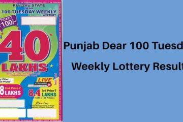 Punajb Dear 100 Tuesday Weekly Lottery Result